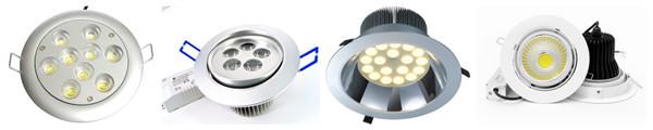 White Color Round Shape 7W Cob LED Downlight