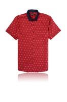 New Fancy Short Sleeve Men's Dress Shirts