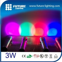3W flashlight and fade 10 basic color change led torch