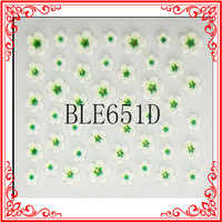 S017 Hot Sale 11 Colors Romantic Foaming Flower 3D Fashion Stickers For Nail Decal For Nail Design