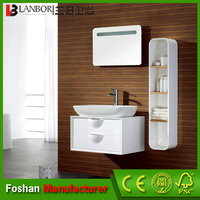 Wholesale French white bathroom furniture with side storage cabinet FS005