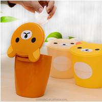 fashion creative household novelty plastic mini trash can