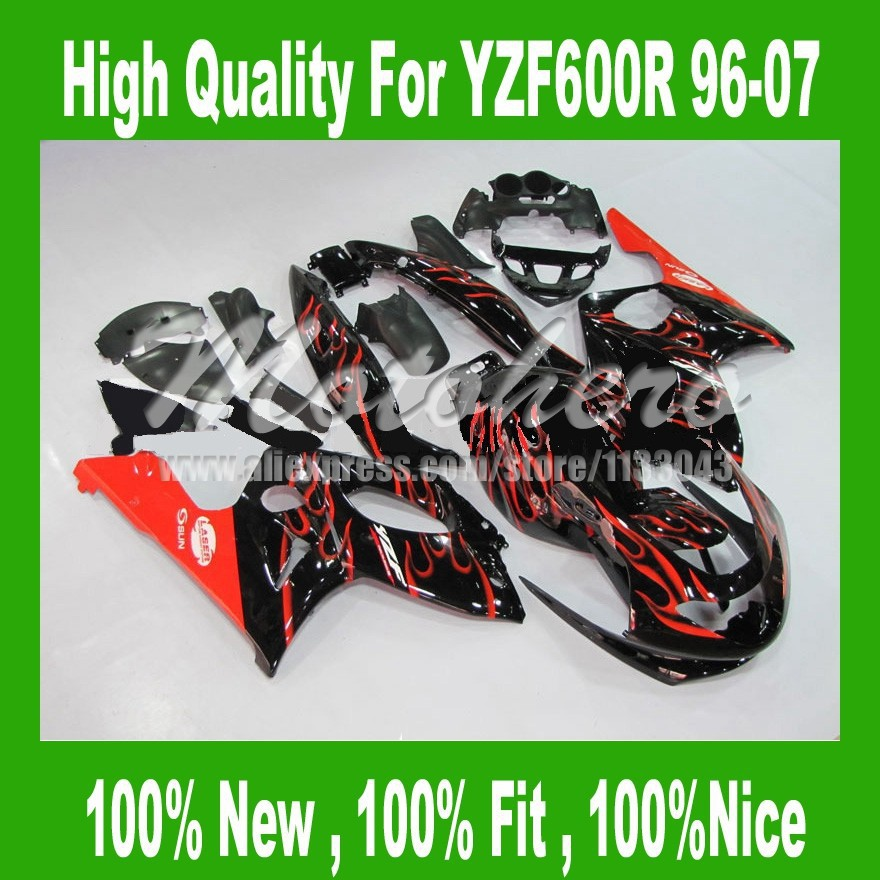 Fairing parts for YAMAHA Thundercat YZF600R 96 97 98 99 00 01 02 03 04 05 06 07 #25FF YZF 600R 96-07 red Black fairing kit+TANK