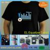 fashional led t shirt el advertisement t-shirt for Summer/el advertisement t-shirt
