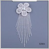 2015 new fashion flower shape crystal rhinestone brooch for beauty dress