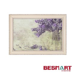 decorative fabric wall picture frame,home decorative framed art ,retro flower wall art