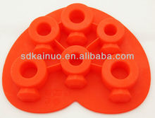 ring shape silicone fancy ice cube trays