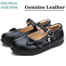 J-SC0016 China wholesale girls black student shoes genuine leather classical school uniform shoes