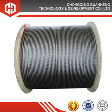 steel wire rope cable 6*24+7FC 25MM for banding