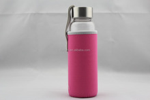 Fashion glass drinking water bottle with the tubes for promotion
