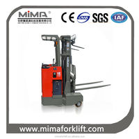Battery 4-direction forklift used for long and big materials carrying and stacking