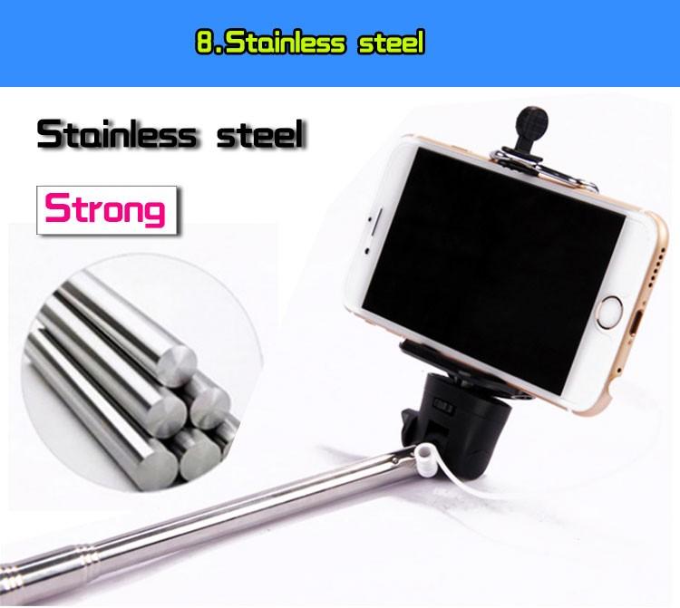 wholesale 2016 best sell selfie stick cable takepole selfie stick. Black Bedroom Furniture Sets. Home Design Ideas