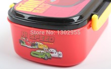 NEW Free shipping cartoon heat preservation lunch box, Pixar cars mcqueenes Bento,Japanese style dinner bucket hot selling