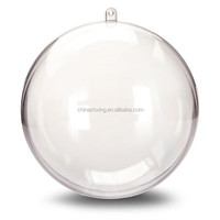 100mm wholesale clear plastic christmas ball ornaments bulk
