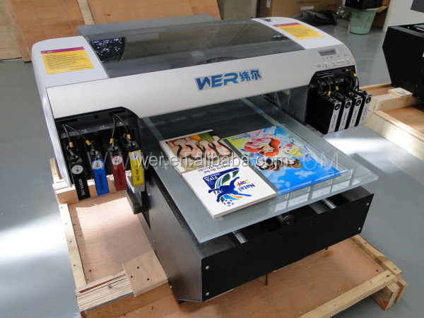 A2 desktop uv led flatbed printer multifunctional for for Uv t shirt printing
