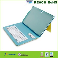 2015 Hot Sale Leather Bluetooth Keyboard Flip case for ipad air, air 2
