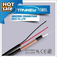 RG series 75 ohm cctv camera cable, rg6 with power cable, 3 in 1 cable