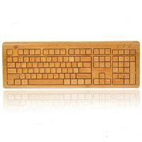 Slim Wireless USB Bamboo Keyboard