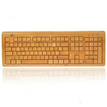 Slim Wireless USB Bamboo Keyboard