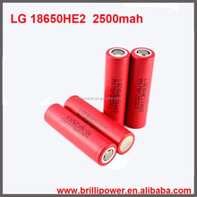 Brillipower cylinder 3.7v high drain LGhe2 35a 2500mah 1x18650 lithium rechargeable battery