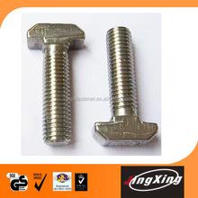 Supplier T bolt 8.8 grade zinc plated hammer head bolts