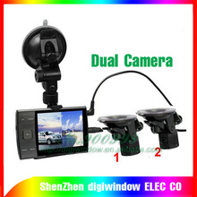 "S3000A HD Car DVR Dual Camera 3.5"" LED Screen Car black box Motion Detection vehicle car camera"