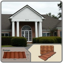 2015 guangzhou low & cheap stone coated steel roofing cost/stone coated metal roofing tiles with various types of metal roofing