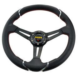 14inch 350mm Momo Deep Corn Suede Leather wrap Drifting Steering Wheel