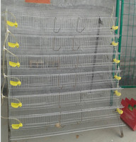automatic galvanized metal quail cages