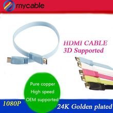 24K gold plated ul 20276 hdmi cable with 1080P 3D ethernet support hdmi 2.0 hdmi 1.4