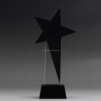 Crystal Outstanding Worker Star Award Souvenir Crystal Black Authorize brand trophy