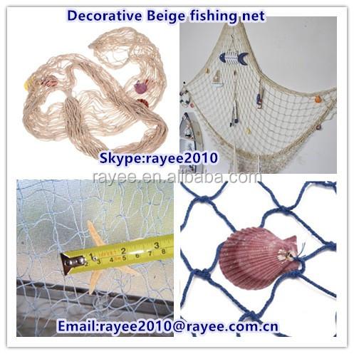 Decorativas seaside beach party decora o do escudo do mar - Redes de pesca decorativas ...