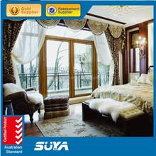 Используется раздвижные стеклянные двери продажа дерево с алюминиевой одетый деревянные двери