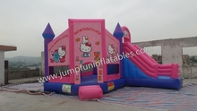 Hello Cat Bouncers Jumping Bounce Castles Combo Girls Love Pink