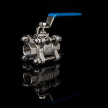 high quality 150lb npt threaded 1/4 inch 3-pc ball valve ss 316 for gas