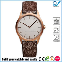 PVD Rosegold stainless steel case sapphire lense waterproof 5ATM stainless steel women watch uniform wares watch style
