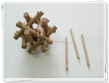 Cheap wooden toys wooden brain teaser