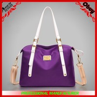 Manufacture Folding Shoulder Bag/Travel Nylon Cheap Handbags Organizer/New Design Tote Bag For Gift