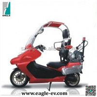 Electric motorcycle with roof and windscreen, for fire fighting, EG6011BC
