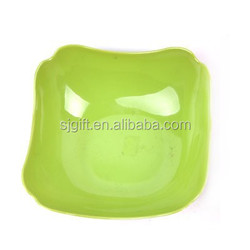 hard plastic colorful fruit and food plate