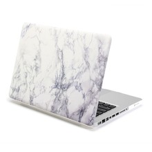 White Marble Pattern Rubberised Hard Shell Case Cover for MacBook Pro