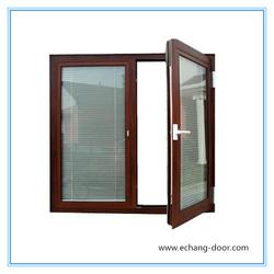 double pane aluminum window/double glazed aluminum window
