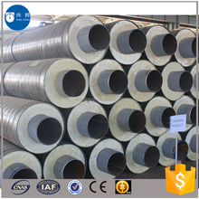 Plumbing materials hot water pipeline insulated tube with rigid foam filled and hdpe outer casing for Mongolia hot water supply