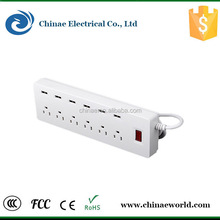 USA outlet/socket lead ac power 125v 13a extension socket with usb charger fast shipment
