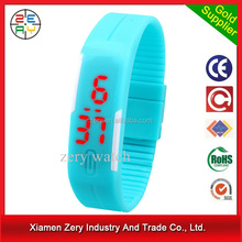 R0775 new style led watches, silicone rubber watch strap