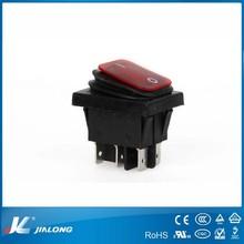 waterproof square UL VDE 16A boat rocker switch
