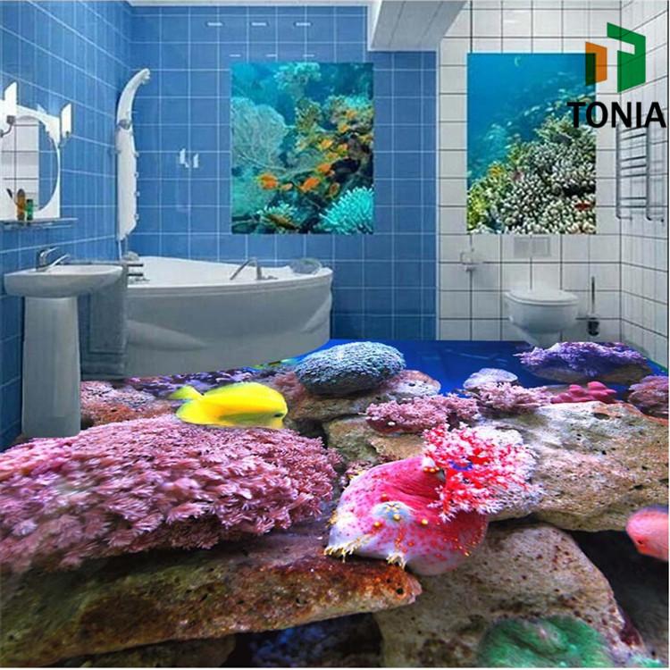No Fade Bathroom Floor Tiles 3d Flooring Tiles Design Inkjet