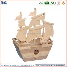 Mới đến trang trí thuyền mô hình bằng gỗ, gỗ tàu thuyền đồ chơi