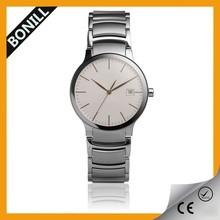 simple design super slim big face quartz watch