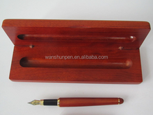 carved wood pen with wood case, promotional gift ball pen